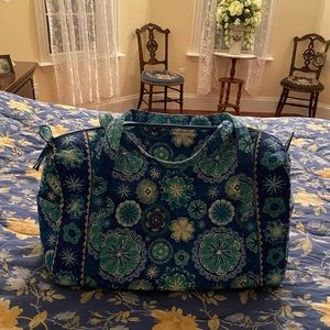 Handbags - BLUE COTTON QUILTED DUFFLE TRAVEL BAG